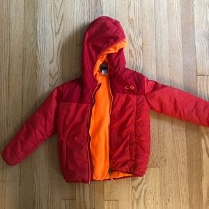 Boys red champion winter puffer coat sz 5T